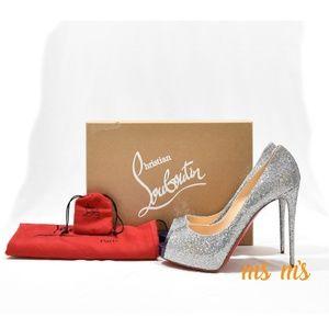 NIB Christian Louboutin Glitter Disco heels
